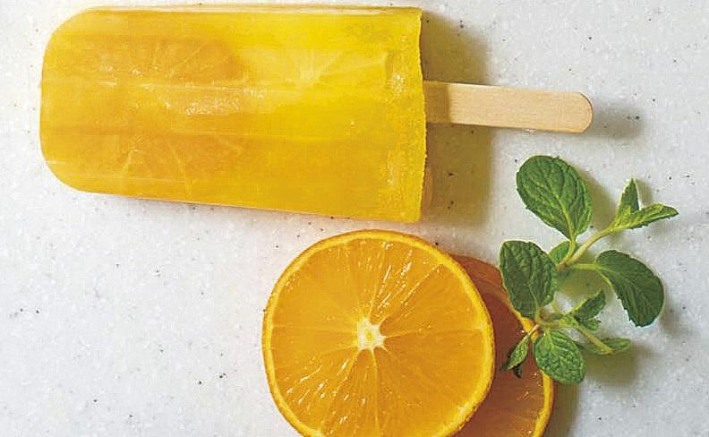 【フローズン フルーツバー】オレンジジュース× オレンジ×黄桃