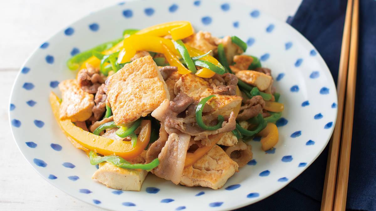 豚肉と豆腐のバターしょうゆチャンプルー